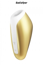 Stimulateur de clitoris Breeze doré - Satisfyer : Stimulateur clitoridien avec Technologie Air Pulse qui stimule le clitoris par ondes de pression et vibrations sans contact.