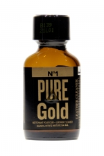 Poppers Pure Gold 24ml : Poppers à base de nitrite d'amyle, ultra fort et ultra pur, pour des moments festifs intenses.